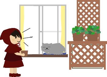 フサフサ猫が休憩中