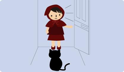 家に入ったら猫がいた