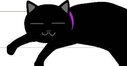 黒猫に虫除けの首輪