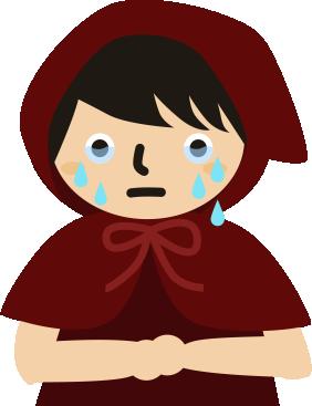 涙がポロポロ
