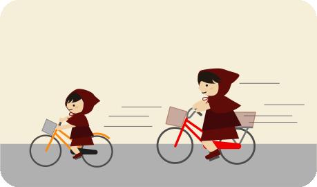 自転車でホームセンターへ
