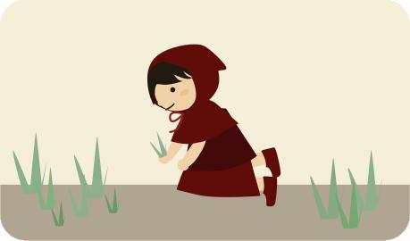 庭の雑草を抜く
