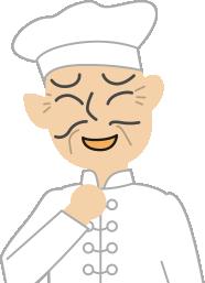 中華料理屋さんのイラストの人