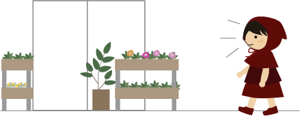 近所の花屋さん