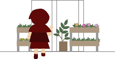 お花屋さんをのぞいてみる