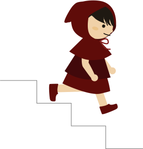 運動不足解消に階段を降りる