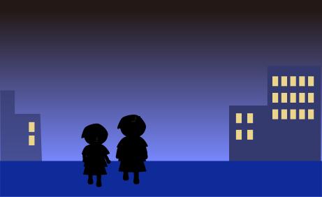 夜道を帰る