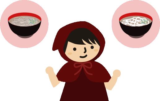 うどんか蕎麦か