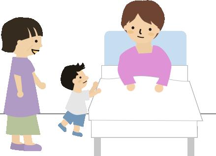 若いお母さんの入院
