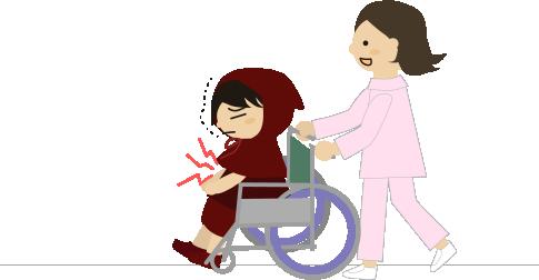 車椅子で移動