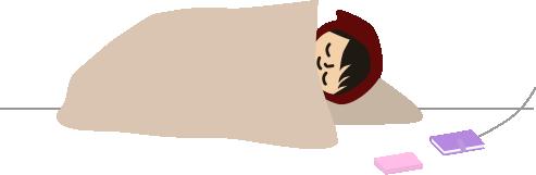 枕元にスマホとガラケー