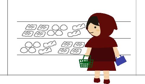 スーパーのパンコーナー