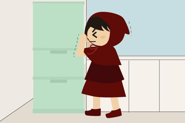 冷蔵庫の扉を開けられない