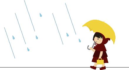 雨の中を出かける