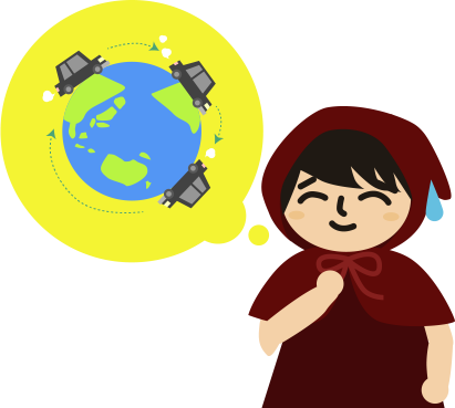 地球をぐるぐる