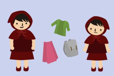 洋服を共用
