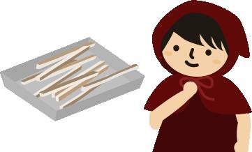 パンの端っこは甘いものに