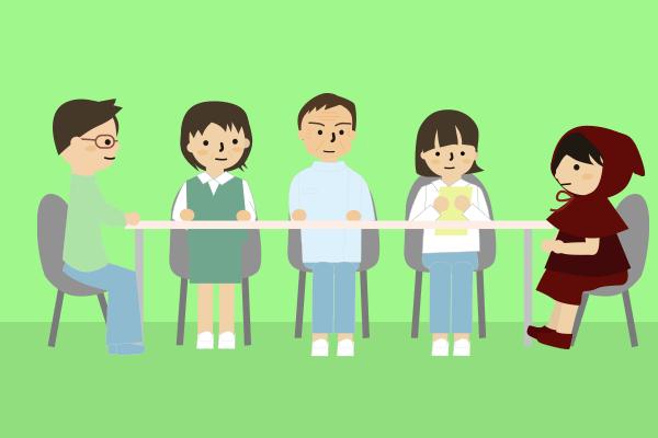 介護サービスの方と会議