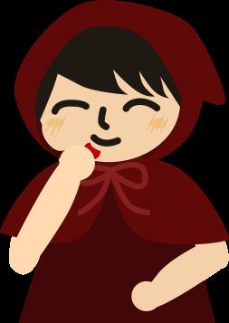 苺を食べる