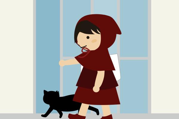 猫を家の中に入れる