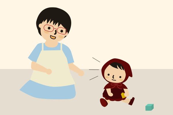 保育園の先生と赤ちゃん