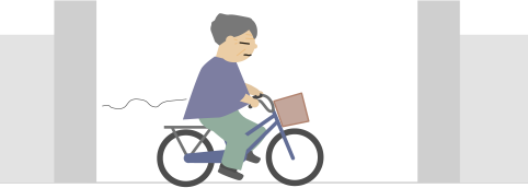 自転車のお爺さん