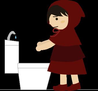 手が洗えない