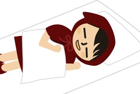 口空いて熟睡