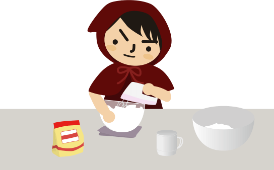 シフォンケーキを作る